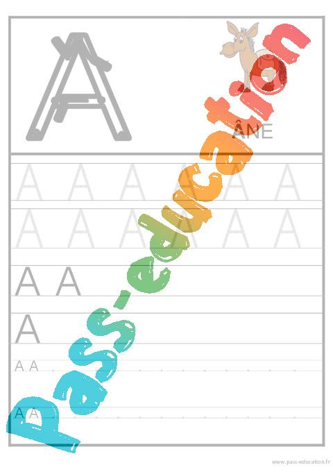alphabet français en majuscule