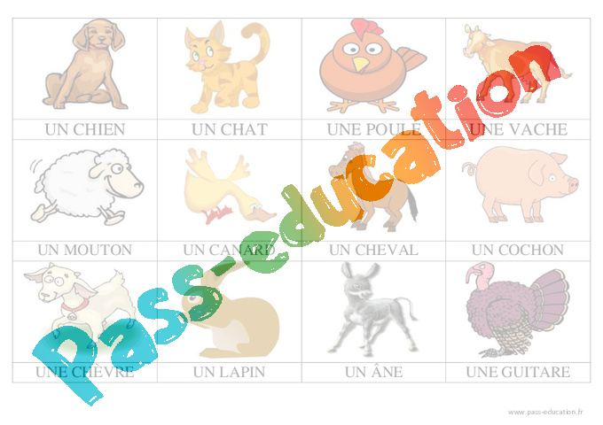 Animaux de la ferme imagier maternelle petite section moyenne section ps ms pass - Images animaux a imprimer ...