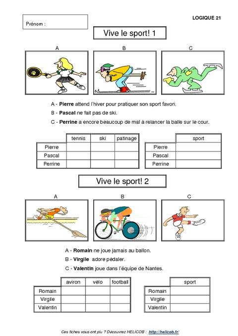 Problèmes de logique - Cp - Ce1 - Exercices corrigés - Mathématiques - Cycle 2 - Pass Education