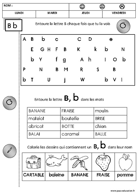 Favori Lire les lettres – Lecture - Maternelle – Petite section – Moyenne  IN61