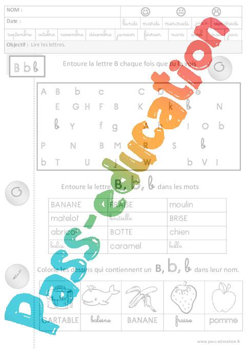 Lire les lettres cursives lecture maternelle grande for La b b