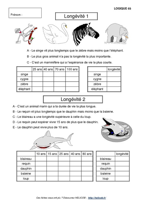 Problèmes de logique - Cm1 - Cm2 - Exercices corrigés - Mathématiques - Cycle 3 - Pass Education