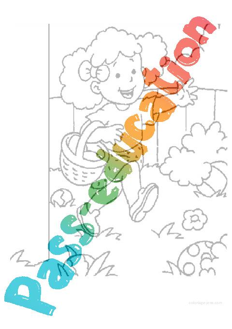 Coloriage Paques Gs.Coloriages Paques Maternelle Petite Section Ps Vie De La