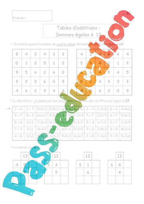 Tablamuse r vision ludique des tables calcul ce1 for Table multiplication ludique