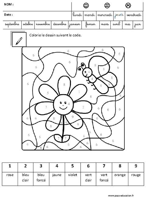 Coloriage magique cod logique maternelle grande - Coloriage magique maternelle ms ...