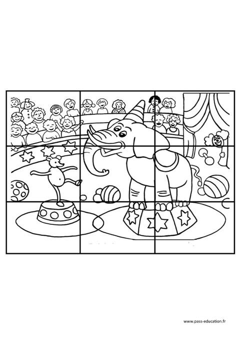 Extrêmement Cirque - Puzzle - Logique – Maternelle – Grande section – GS  HB21
