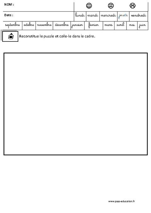 Extrêmement Ferme - Puzzle - Logique – Maternelle – Grande section – GS  HB21