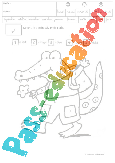 Coloriage Code Grande Section.Coloriage Code Logique Maternelle Grande Section Gs