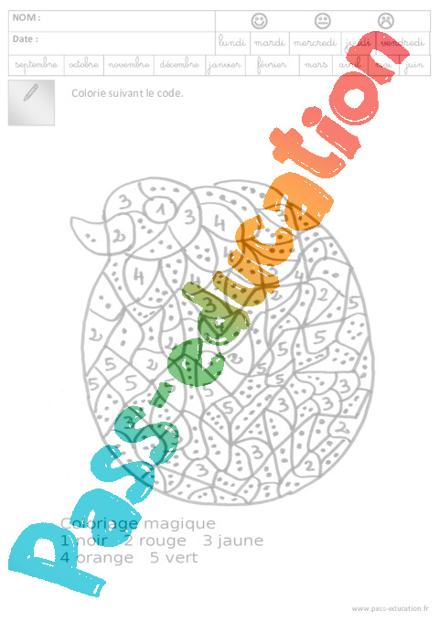 Coloriage De Paques Cycle 2.Coloriage Code Paques Maternelle Grande Section Gs Cycle 2