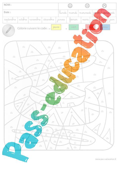 Coloriage Magique Cp Gs.Coloriage Magique Lecture Maternelle Grande Section