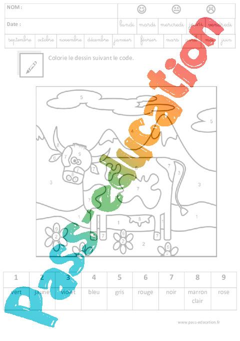 Coloriage Fevrier Ms Gs.Coloriage Magique Code Logique Maternelle Grande Section