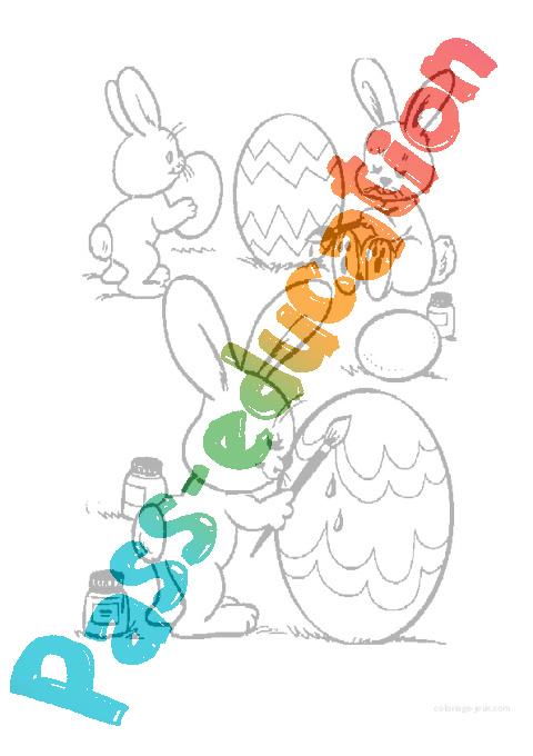 Coloriage De Paques Cycle 2.Coloriages Paques Maternelle Grande Section Gs Cycle 2