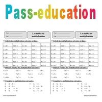Tables de multiplication - Ce2 - Exercices corrigés ...