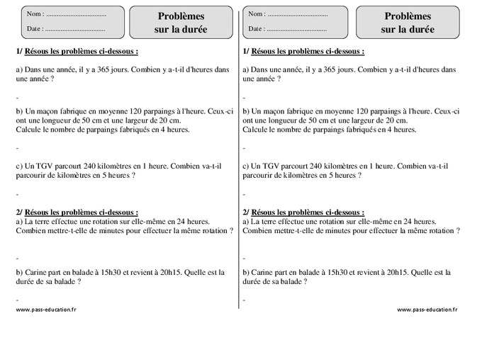 Dur e ce2 probl mes exercices corrig s for Calculer le nombre de parpaing