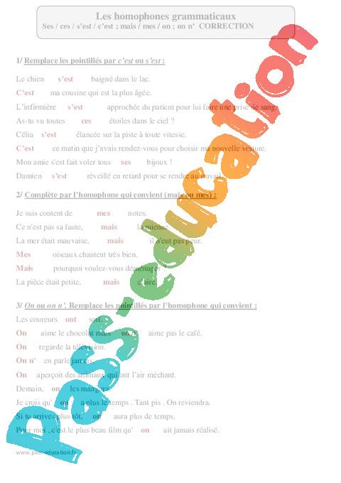 Les homophones grammaticaux le on ge53 jornalagora for Dans homophone