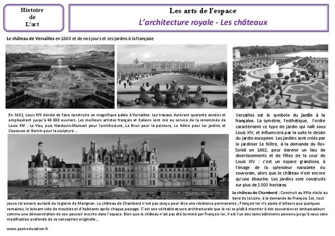 Architecture royale les ch teaux cm1 cm2 arts de l - L histoire de l architecture ...