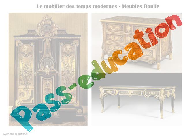 Mobilier Des Temps Modernes Cm1 Cm2 Arts Du Quotidien