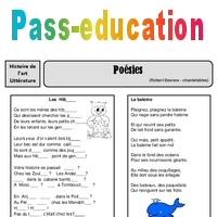 4cee345f4a8 Poésies - Robert Desnos - Arts du langage – Cm2 – Histoire des arts – XXème  siècle – Cycle 3 - Pass Education