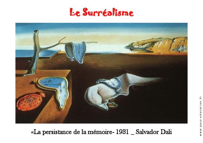 Salvador DALI : La persistance de la mémoire (1931) (avec images) | Salvador dali
