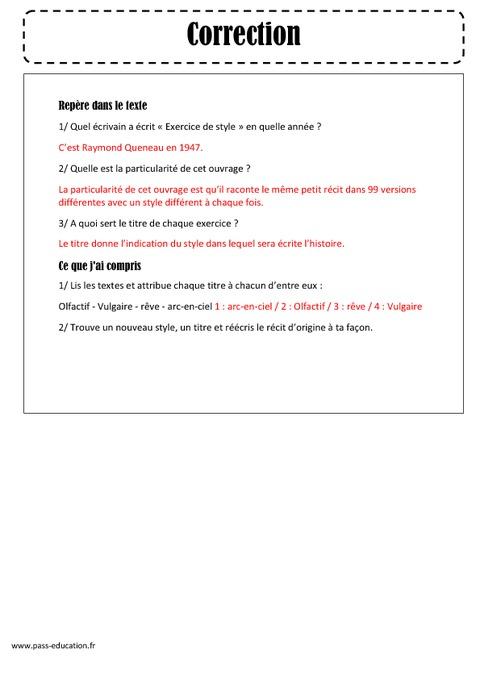 Exercices de style - Raymond Queneau - Arts du langage ...