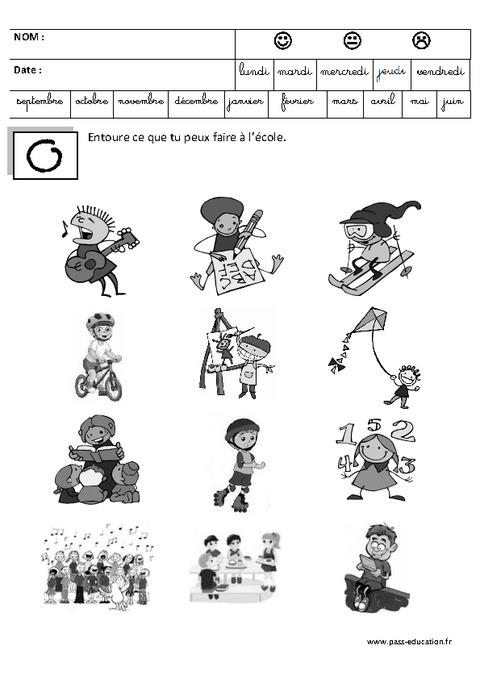 Coloriage De La Rentree En Maternelle Colorier Les Enfants