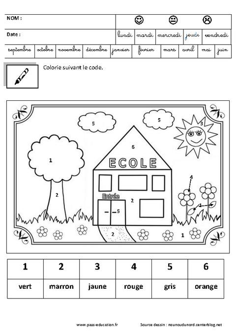 Coloriage magique jeux de la rentr e maternelle petite moyenne et grande section ps - Coloriage grande section maternelle ...