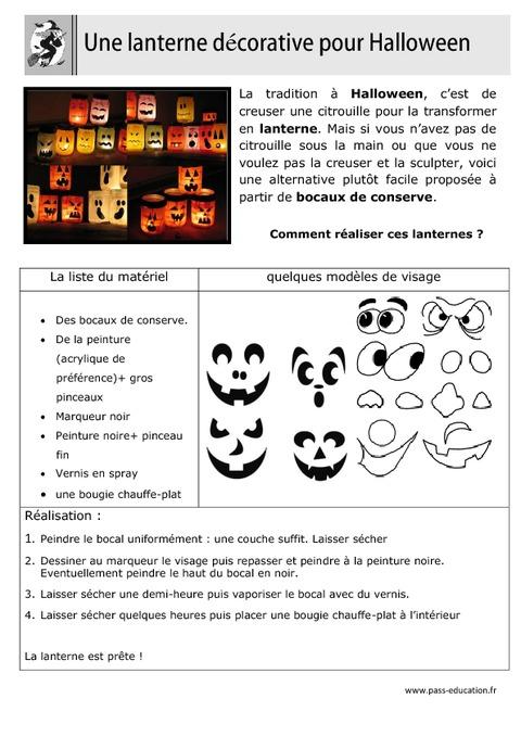 r aliser une lanterne pour halloween arts plastiques ce1 ce2 cm1 cm2 cycle 2 cycle. Black Bedroom Furniture Sets. Home Design Ideas