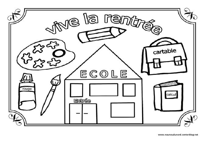 Vive la rentr e coloriage jeux de la rentr e maternelle petite moyenne et grande - Coloriage grande section maternelle ...