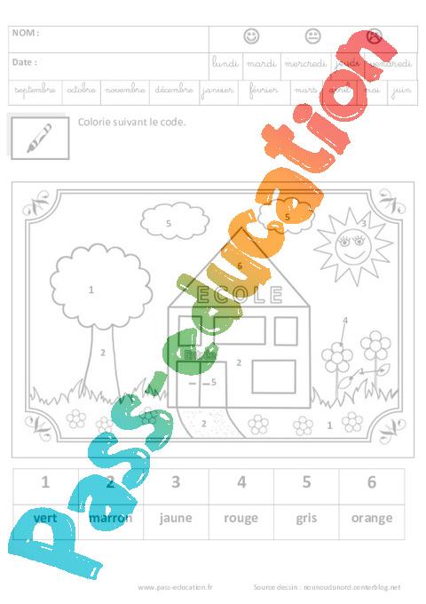 Coloriage magique jeux de la rentr e maternelle - Coloriage magique ps ms ...