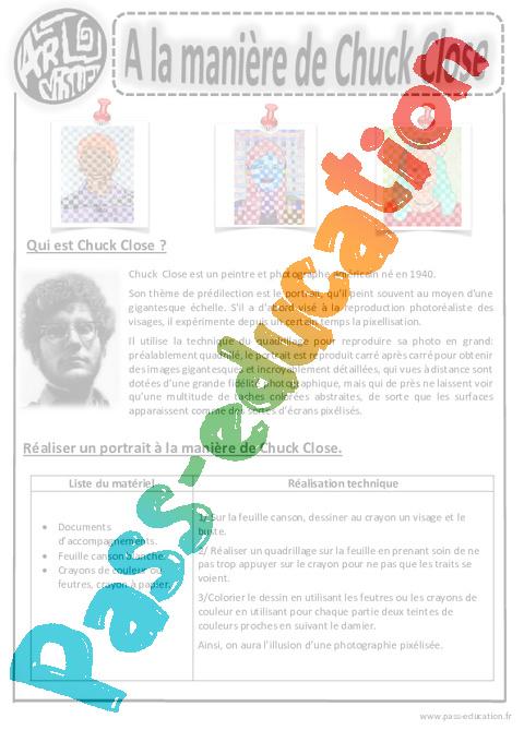 portrait cm2 arts visuels