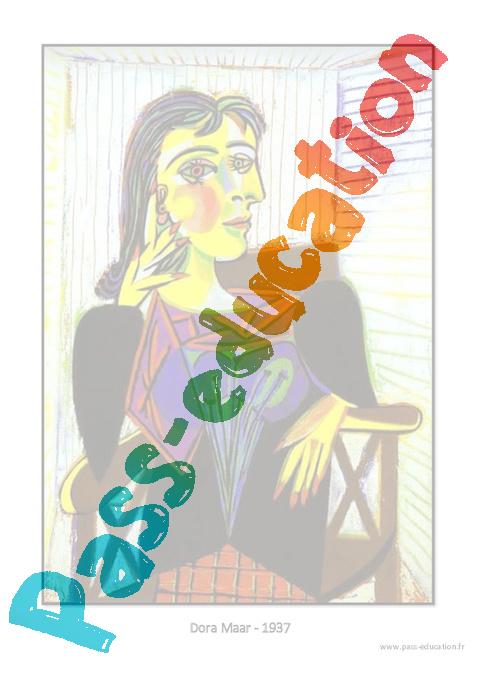 picasso portraits ce1 ce2 cm1 cm2 arts visuels cycle 3 pass education. Black Bedroom Furniture Sets. Home Design Ideas