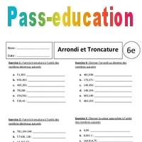 Troncature Arrondi 6eme Exercices Corriges Nombres Decimaux