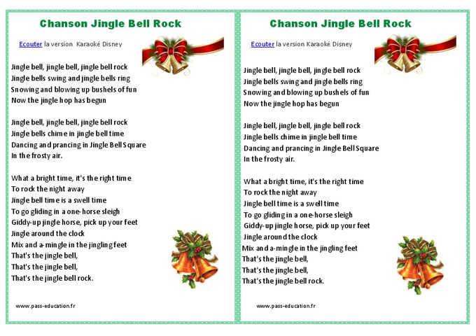 jingle bells rock chanson de no 235 l cycle 2 cycle 3 pass education