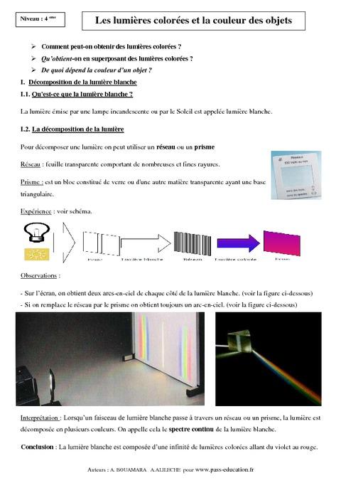exercice de physique chimie 4eme gratuit pdf