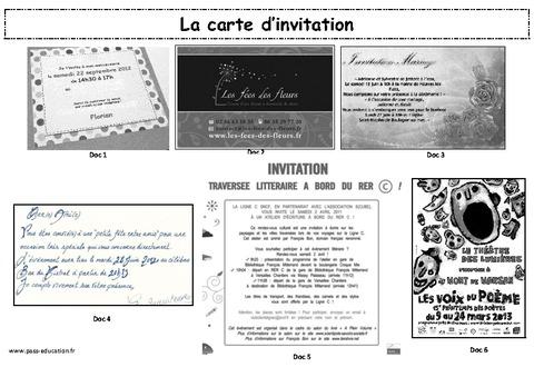 la carte d invitation production d 39 crit ce2 cm1 cm2 lecture ecriture cycle 3. Black Bedroom Furniture Sets. Home Design Ideas