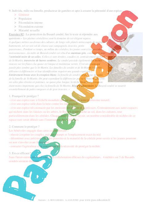 svt 4eme exercices et corriges pdf