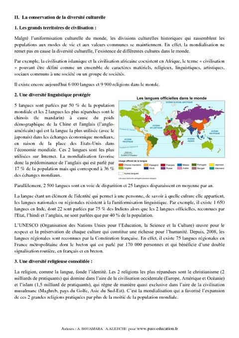 Cours Es Question  La France En Ville
