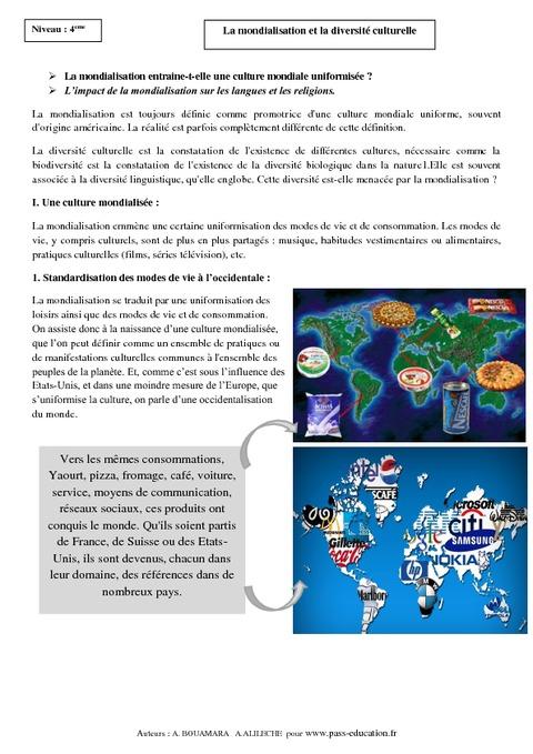 capitalisme mondialisation dissertation La mondialisation conduit ainsi selon certains auteurs à l'« américanisation » des modes de vie conclusion ainsi, la mondialisation semble être à la fois une menace et une chance pour le citoyen.