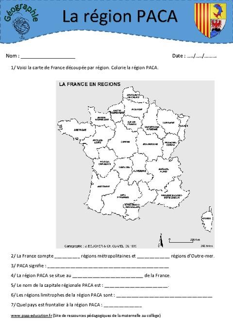Provence alpes c te d 39 azur paca etude de la r gion ce2 for Region bouche du rhone