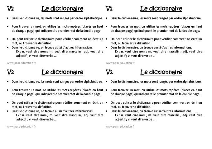 Dictionnaire ce1 le on pass education for Dans wiktionnaire