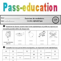 Exercices - Ordre alphabétique - Cp - Vocabulaire - Cycle ...