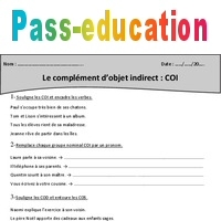 COI - Complément d'objet indirect - Cm1 - Exercices avec ...