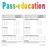 Tables De Multiplication Ce2 Exercices à Imprimer Pass Education
