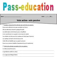Voix Active Voix Passive Cm2 Exercices Avec Correction Pass