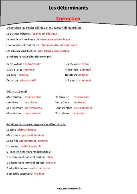 Exercices Avec Adjectifs