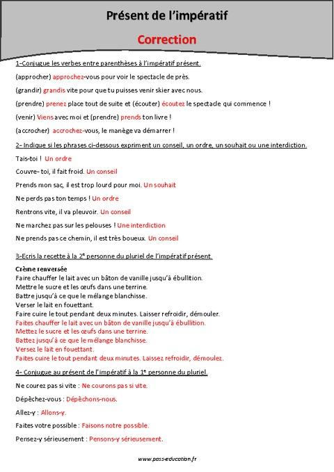 Imp ratif pr sent cm2 exercices imprimer pass - Conjugaison cm2 a imprimer ...