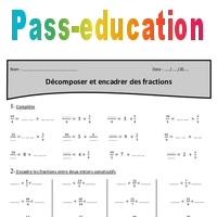 Coloriage Magique Encadrer Des Fractions.Fraction Encadrer Et Decomposer Cm2 Exercices A Imprimer