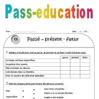 Passé - présent - futur - Ce1 - Exercices à imprimer - Pass Education