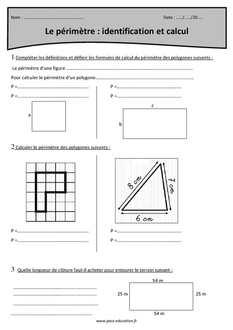 P rim tre identification et calcul cm1 exercices - Calcul cm1 a imprimer ...