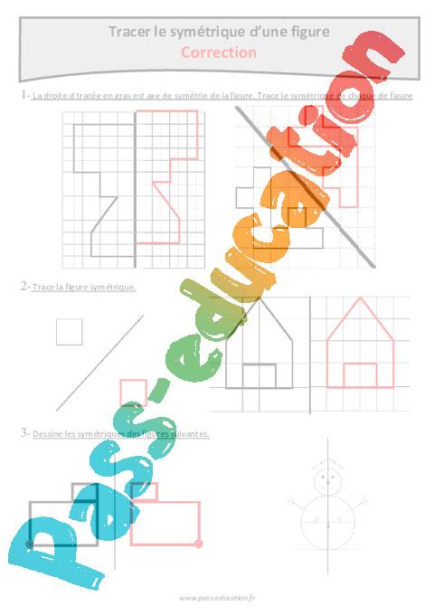 Assez Symétrie d'une figure - Cm2 - Exercices à imprimer - Pass Education KV14